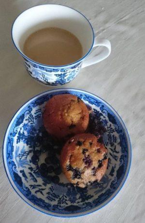Blåbærmuffins med sukkererstatning