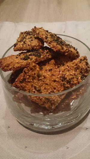 Glutenfri salte mandelkjeks