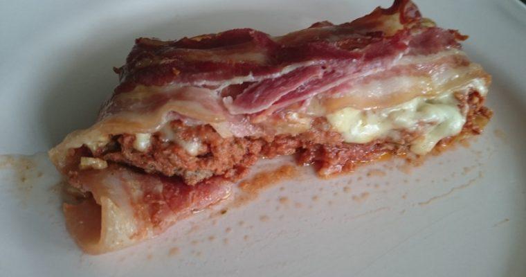 Lettvint grateng med bacon og kjøttdeig