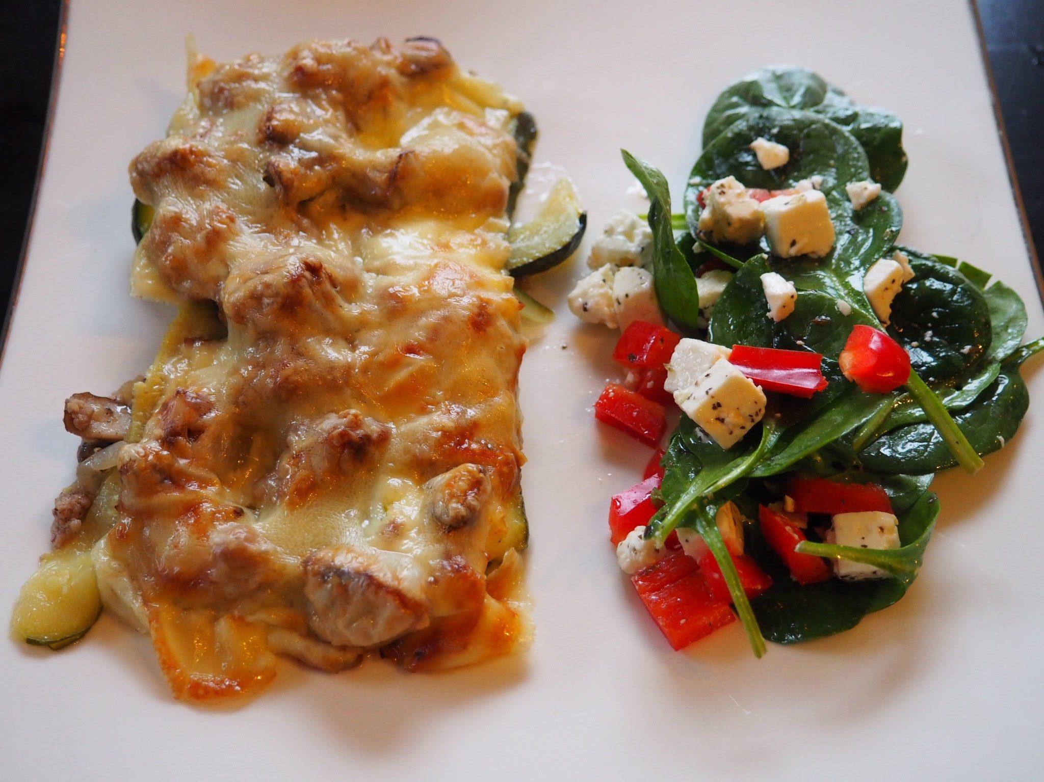 Lasagne med squashplater