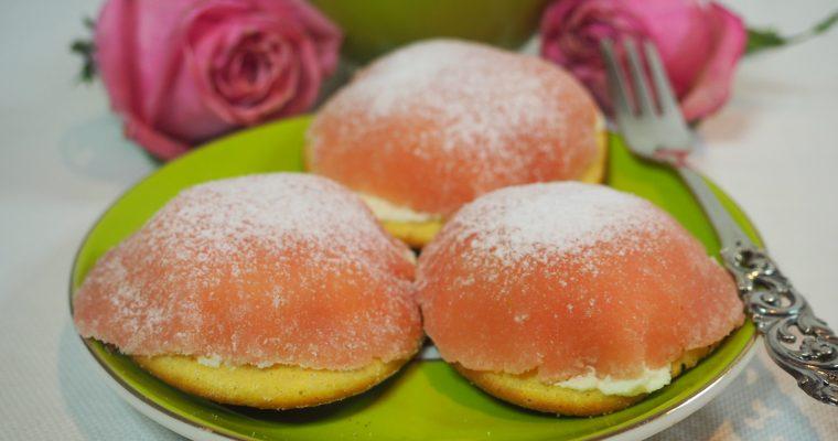 Små herlige kremkaker med marsipanlokk (uten mel og sukker)