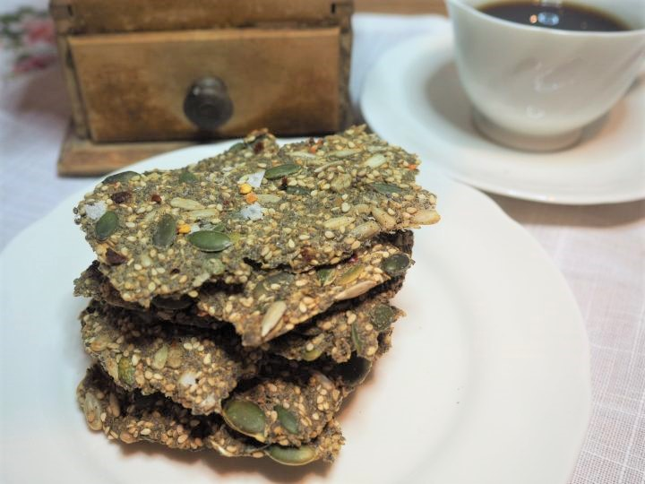 Lavkarbo knekkebrød med chiliflak til morgenkaffe'n