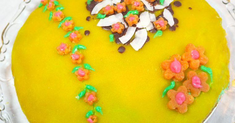 Lavkarbo påskekake med marsipanlokk